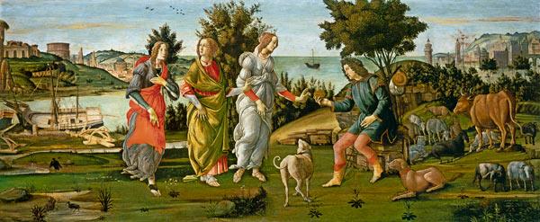Das Urteil des Paris. Sandro Boticelli, 1485 aprox.