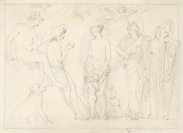 Juicio de Paris, Flaxman. 1805.