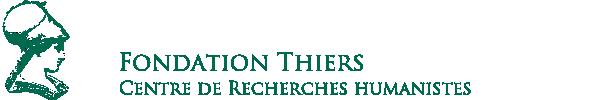 Bourses de la Fondation Thiers (date limite 26 septembre)