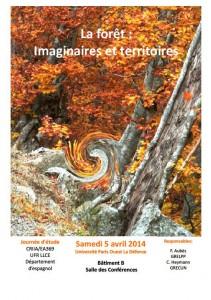 """Journée d'étude """"La forêt : Imaginaires et territoires"""", 5 avril 2014"""