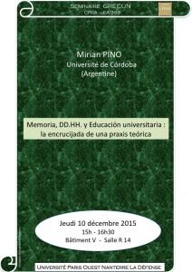 Mirian PINO 10 déc 2015