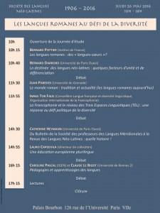 Programme 26 MAI 2016