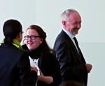 Prof. Klaus Vogel, Felicitas von Mallinckrodt und Gisela Staupe im DHMD