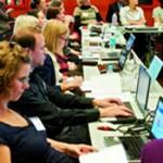 Teilnehmer/innen der DSS 2012 in der SLUB