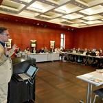 Dr. Achim Bonte und Teilnehmer/innen der DSS 2012 in der SLUB