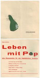 Gerhard Richter und Konrad Lueg Leben mit Pop Möbelhaus Berges, Düsseldorf 1963