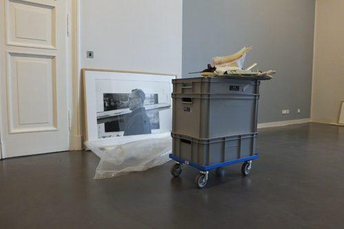 Ausstellungsaufbau im Dresdner Albertinum
