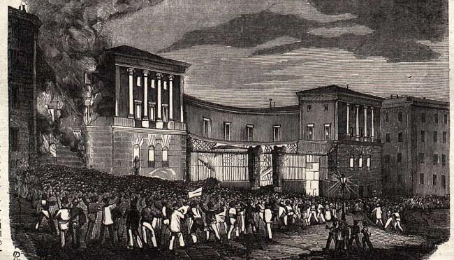 Venganza moral de la multitud: justicia popular atacando espacios del poder