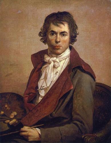 Autorretrato de David, que pintó muchos de los cuadros que José María Román relató.