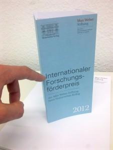 Internationaler Forschungsförderpreis