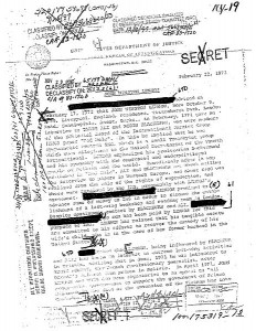 Image: Confidential (here declassified and censored) letter by J. Edgar Hoover about FBI surveillance of John Lennon | Public Domain