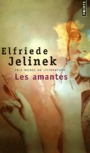 """Couverture des"""" Amantes"""" d'E. Jelinek, aux éditions """"Points"""" (2003)"""