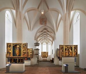 Innenansicht der Klosterkirche St. Annen in Kamenz