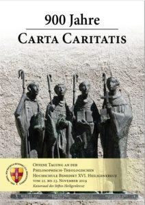 """Flyer der Tagung """"900 Jahre Carta Caritatis"""""""