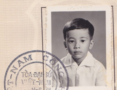 Marcelino Truong's identification photo, age four © 2013 Diacritics