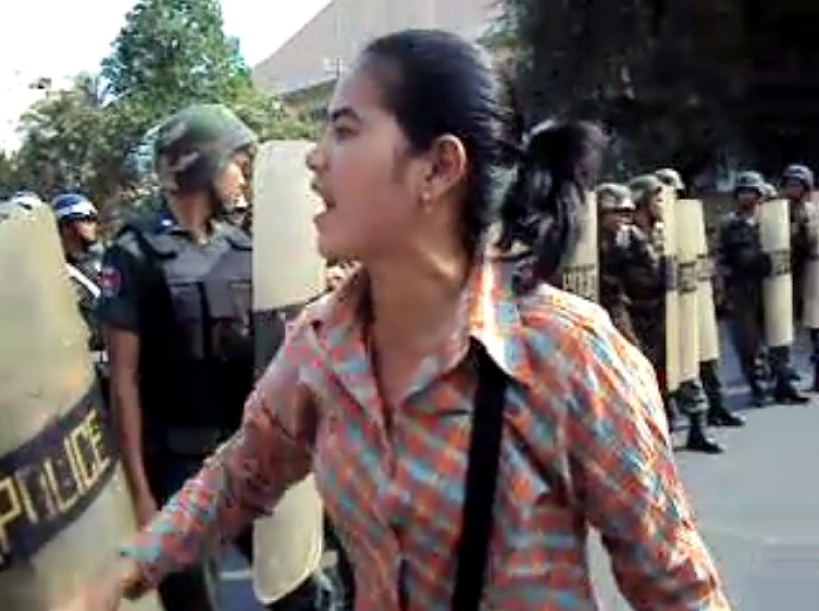 Tep Vanny during a protest © 2012 KI Media