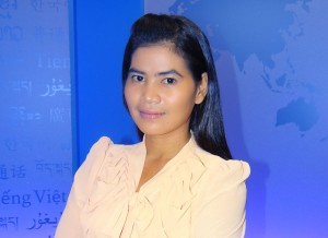 Tep Vanny visits RFA in Washington, March 31, 2013. ® RFA