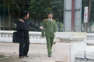 Bức ảnh hiếm hoi của TS Cù Huy Hà Vũ trong trại giam © 2013 RFA