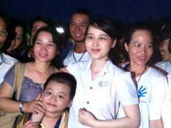 Phuong Uyên après sa libération © Photo du blogueur Anh Chí