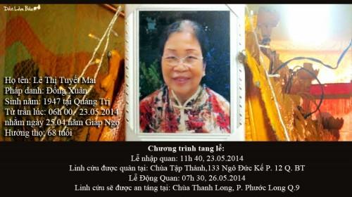 Faire Part publié sur le site Dan Lam Bao © 2014