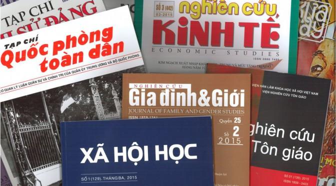 Les revues vietnamiennes de l'IAO – abonnements 2003-2015