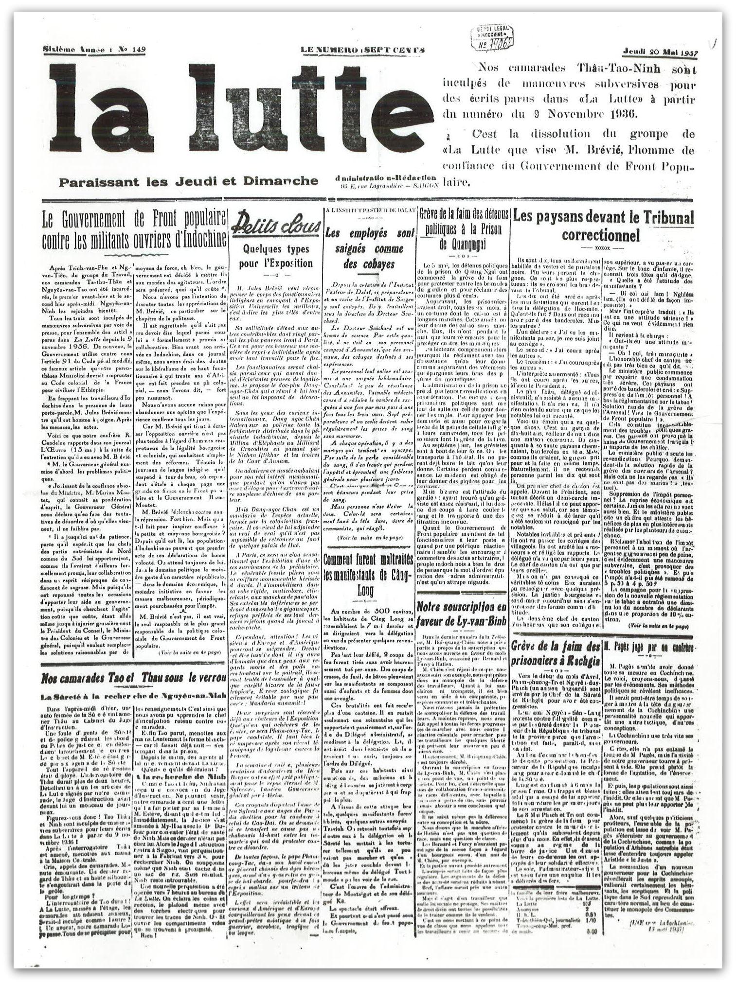 LaLutte Jeudi20 05 1937