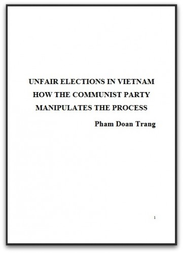 PhamDoanTrang_UnfairElectionsInVietnam_2016