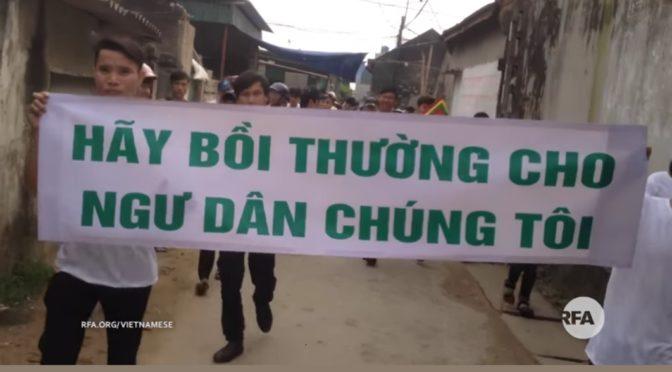 Démonstration de force : Hàng ngàn người dân biểu tình ở huyện Lộc Hà – RFA Vietnamese News