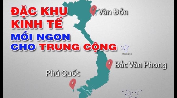 """Projet de """"3 zones économiques spéciales chinoises"""" au Viêt-Nam – Réactions"""