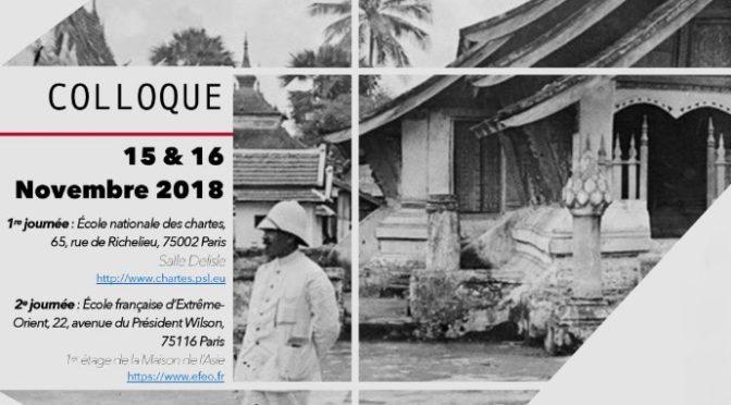 Colloque : Les Chartistes et l'Asie – 15 et 16 novembre 2018