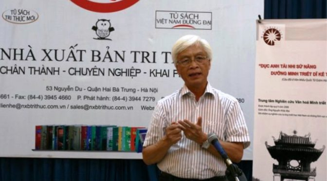 Letter of Support for Pr. Chu Hảo and NXB Tri Thức