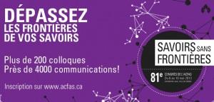 Savoirs sans frontières – 81ème Congrès de l'ACFAS