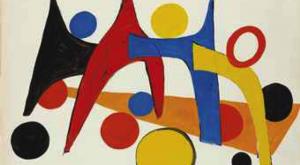 ALEXANDER CALDER (1898-1976)PROJET POUR UN STABILE