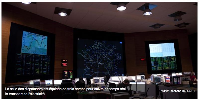 Le Centre national d'exploitation du système de Réseau de transport d'électricité (RTE), à Saint-Denis
