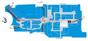 Plan d'un parcours dans les souterrains du Louvre