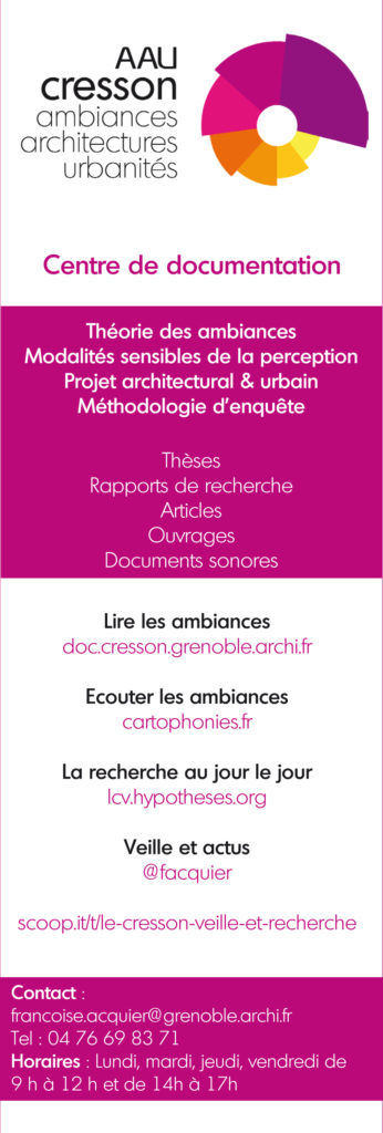 Flyer de communication du Catalogue