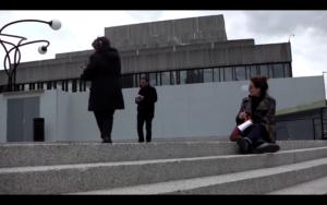 Capture d'écran de la Petite fumée : Pascal Amphoux, Aurore Bonnet, « La petite fumée », Montréal (CA), avril 2015. 2nd séminaire du GDRI « Ambiances en traduction/Translating Ambiances ».