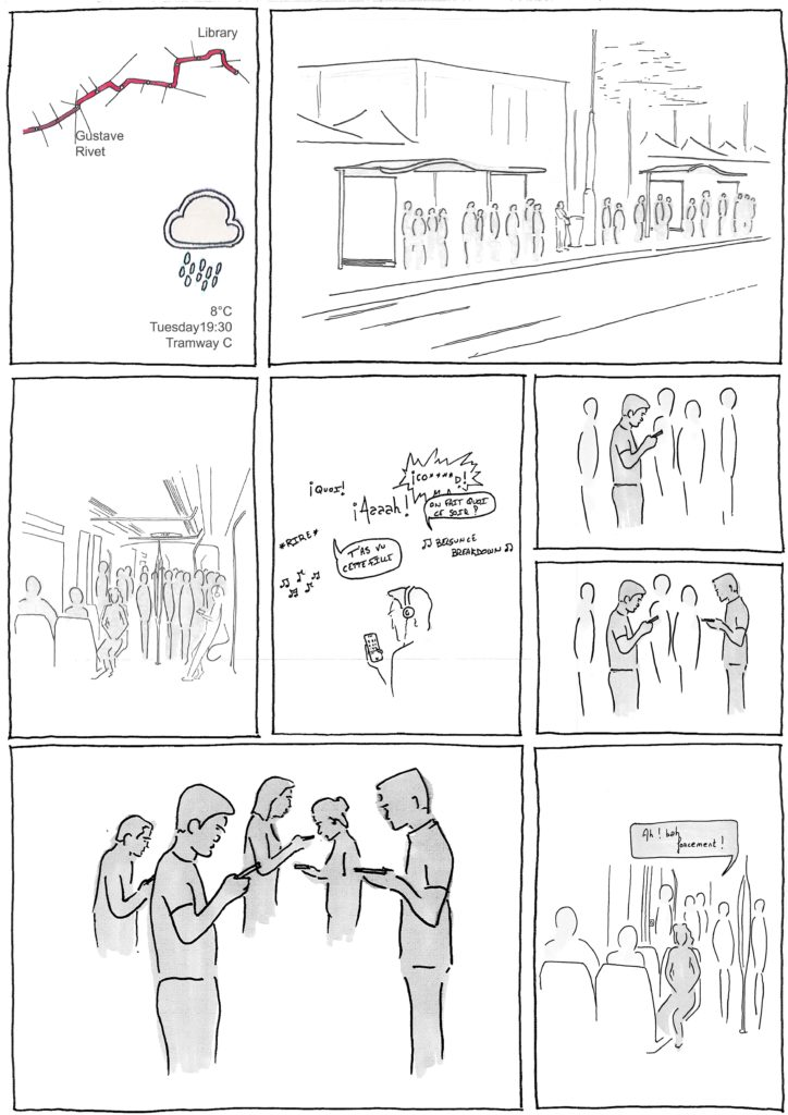 Commuting 1, Bande dessinée de Steven Saulnier-Sinan, 2017
