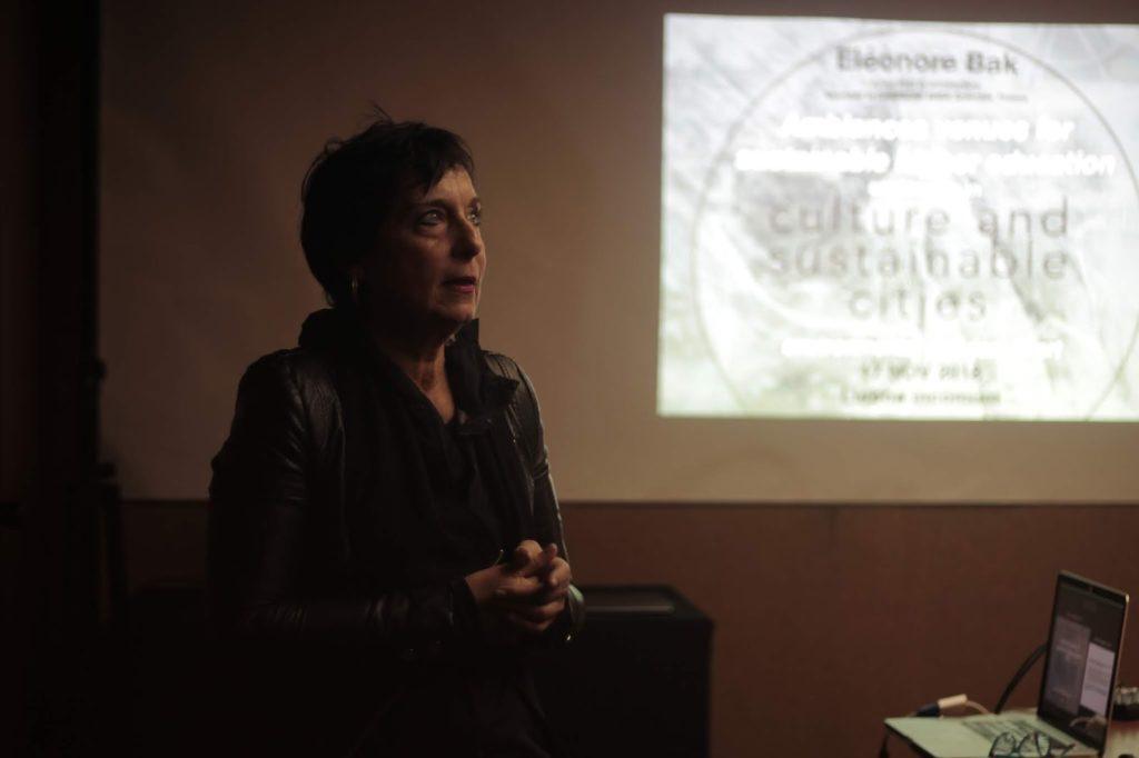 """Photographie d'Éléonore Bak du Cresson/ENSA Grenoble pour sa présentation de """"Ambiances venues for sustainable higher education"""""""