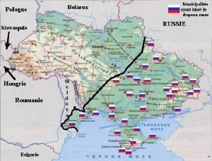 Carte Ukraine-Russie