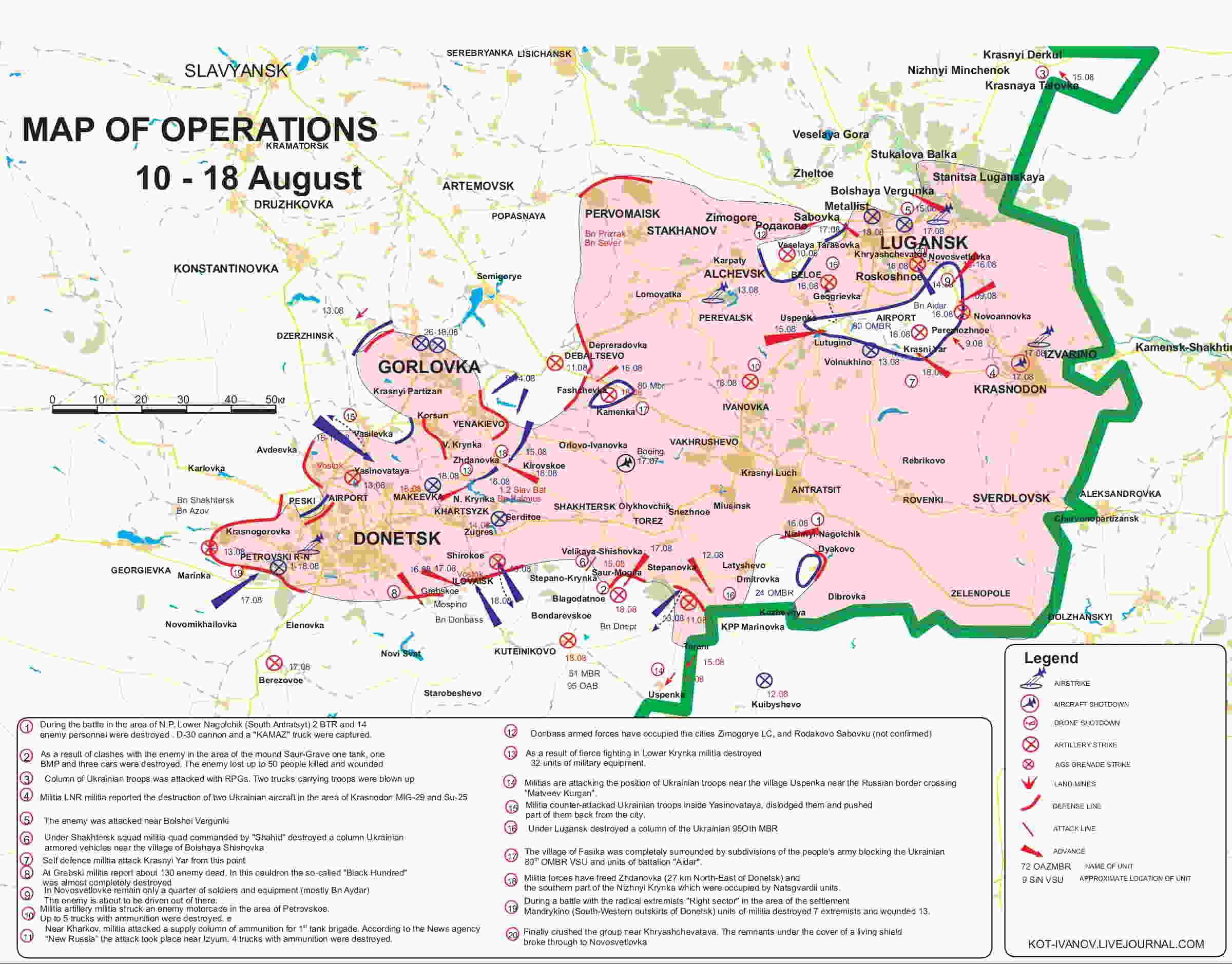 War in Ukraine RussEurope – Map Ukraine Fighting