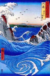 Hiroshige, Tourbillon (wikicommons)
