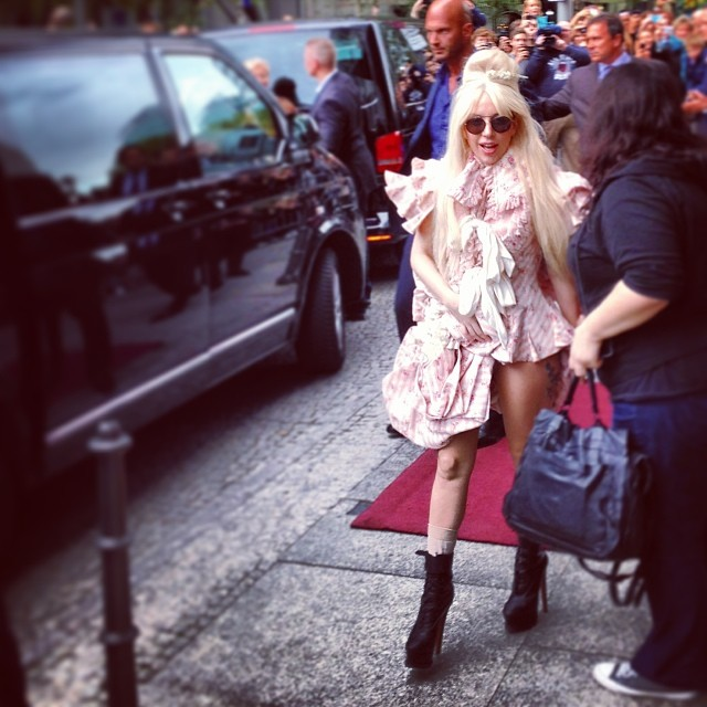 Lady Gaga à Berlin en octobre 2013 (wikicommons)