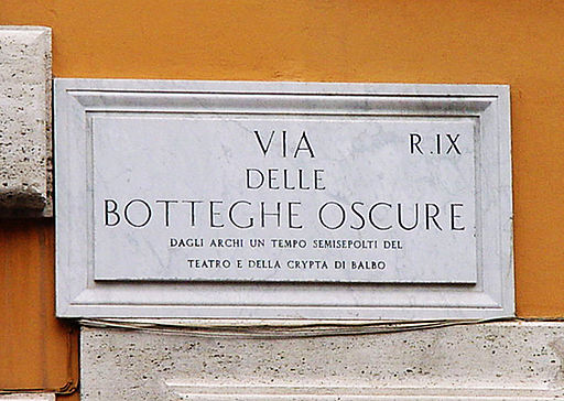 Rue des boutiques obscures, à Rome.