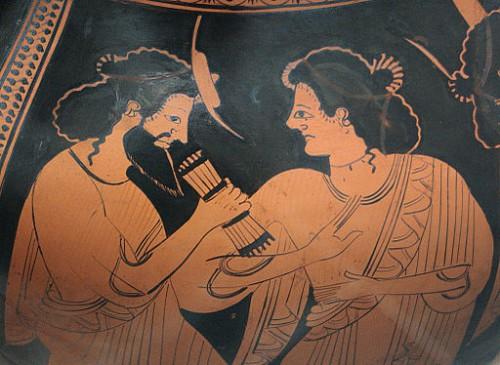 Hermès et sa mère Maia, peintre Nikixenos, Staatliche Antikensammlungen