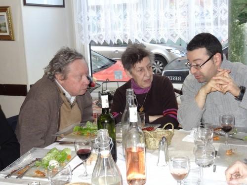 Jean-Victor Vernhes à gauche, en pleine conversation, le 15 février 2014 (cliché : C. Boudignon)