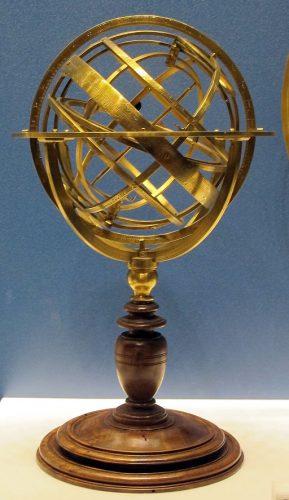 sphère armillaire, musée Galilée, Florence (wikicommons)