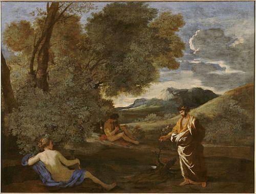 Nicolas Poussin, Numa et la nymphe Egérie, musée de Condé (wikicommons)