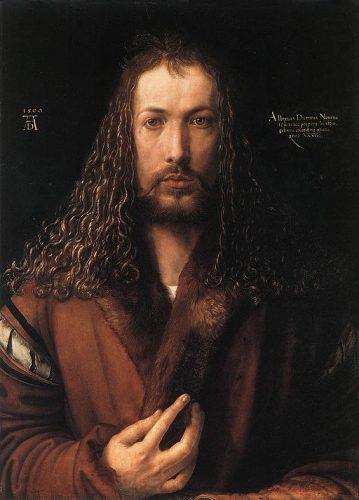 A. Dürer, autoportrait à vingt-neuf ans en 1500, Vieille pinacothèque, Munich (wikicommons)