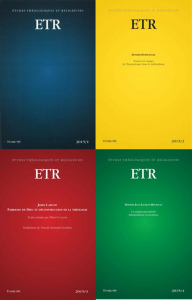 Etudes théologiques et religieuses - 2015
